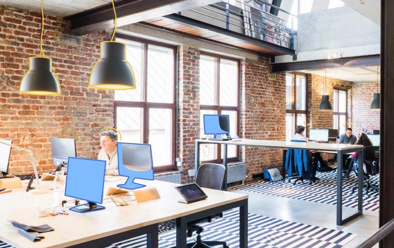travailler en open space, un bureau lumineux