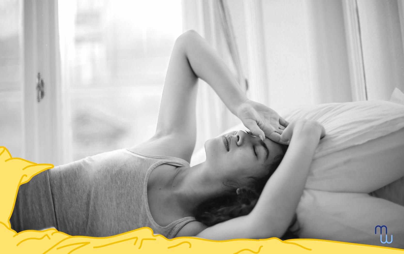 manque de sommeil, une femme entrain de faire une insomnie